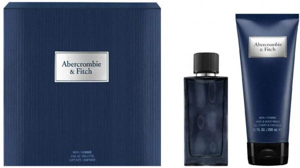 Abercrombie & Fitch First Instinct Blue For Men Eau de Toilette, 50ml and Hair and Body Wash, 200ml
