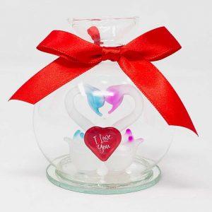 I Love You Memory Glass Jar Gift Valentines Day Anniversary