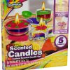Kids Custom Scented Candles DIY Creative Play Set Glass Containers & Colour Wax