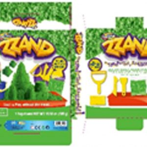 Zzand Kids Children Play Free Flowing Sand Kit Does Not Stick to Hands a Kinetic Sensory Activity Green Sculpt