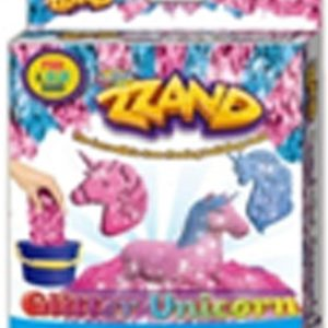 Zzand Kids Children Play Free Flowing Sand Kit Does Not Stick to Hands a Kinetic Sensory Activity Unicorn