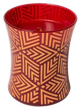 Juicy Christmas Highly Fragranced Natural Wooden Wick Crimson Berries Decal Medium Jar Candle