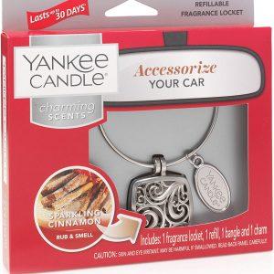 Sparkling Cinnamon Charming Scents Car Air Freshener Square Starter Kit