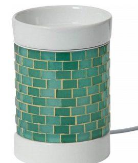 Yankee Candle Glitter Glow Electric Oil Burner Green/white, 12.5 X 10 X 10 Cm