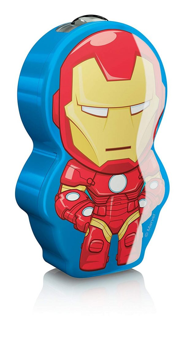 Iron Man Children's Pocket Torch and Night Light with Integrated Led 1 X 0.3 W