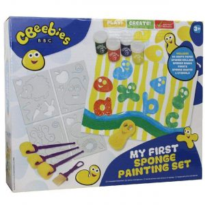 CBeebies My First Sponge & Stencil Painting Set Toddlers Boys Girls Kids Gift