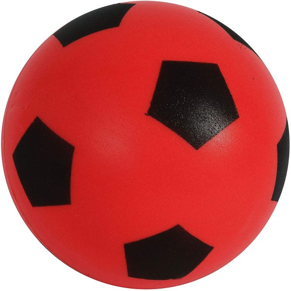 Sport Size 5 Red Football | Indoor/Outdoor Soft Sponge Foam Soccer Ball Great Fun For Adults And Kids Boys & Girls
