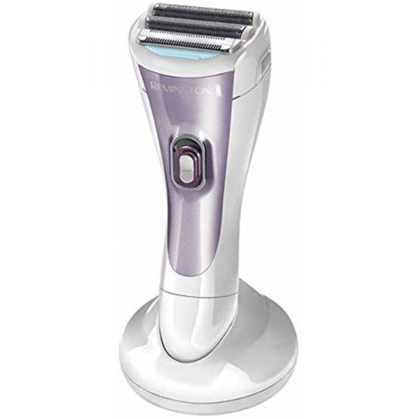 Remington Cordless Wet and Dry Lady Shaver, Showerproof Electric Razor with Bikini Attachment and Charge Stand, WDF4840