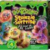 Goozooka Squiezie Surprise Kit Glitter Gush Balls Glow in the Dark