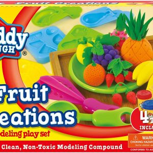 Fruit Creations Modelling Play Set Clean, Modeling Compound 4 Tubs
