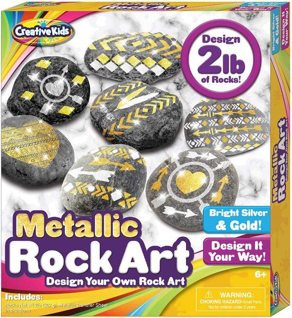 Online Street Creative Kids Metallic Rock Art Design Your Own Rock Art for 6+ Years Kids