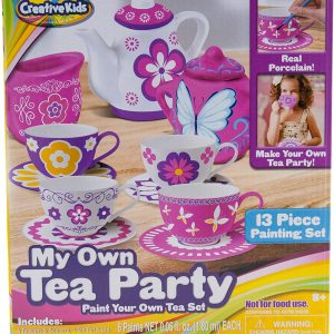 Online Street Creative Kids My Own Tea Party Paint Your Own Tea Set for 8+ Years Kids
