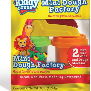 Online Street Kiddy Dough Mini Dough Factory Clean Non-Toxic with 2 Tubs Great for Gifts and Parties for 2+ Year Kids