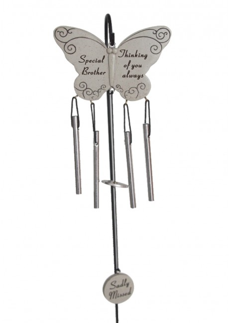 Brother Memorial Butterfly Wind Chime Graveside
