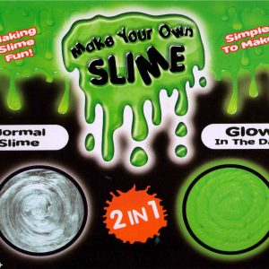 2 in 1 Make Your Own Slime DIY Kit Set Glow In Dark & Normal Safe For  Kids