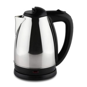Cafe Ole Stainless Steel Easy Pour Cordless Electric Kettle Jug with Strix Element, 1.8 Litre, 1350 W, Mirror Finish