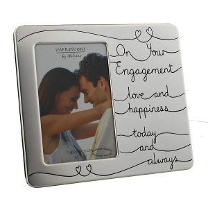 """Impressions By Juliana Photo Frame - On Your Engagement - 4"""" x 6"""" - FS552 - New"""