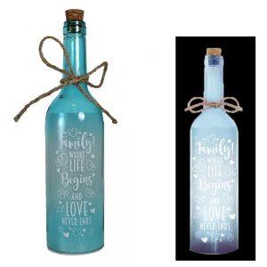 Family Battery Light Up Bottle Christmas Birthday Gift