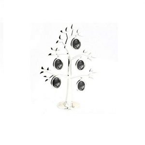 Silver Plated Little Treat Family Tree with Heart Multiple Photo Frame Aperture