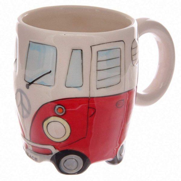 Ceramic Camper Van Mug - Red