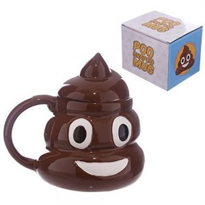 Emoji Emoticon Poop Ceramic Mug With Lid by Tazze e Tazzine