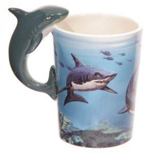 Puckator Lisa Parker Shark Handle Ceramic Mug in Matching Gift Box