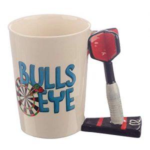 Dart Shaped Handle Ceramic Mug