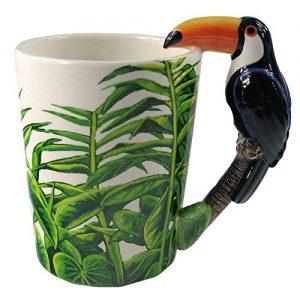 Puckator SMUG44 Mug with Toucan Motif, 13.5 x 8.5 x 11 cm