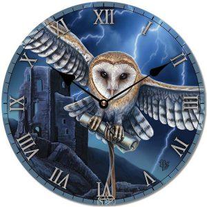 Decorative Fantasy Wall Clock - Heart of the Storm Owl