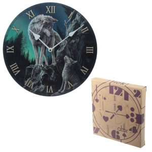 Guidance Wolf Design Picture Clock