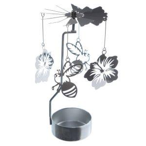 Fun Metal Tea Light Spinner - Cute Bee and Flower Design