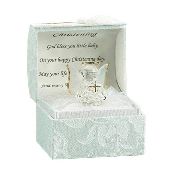 Christening Gift ideas for Girls and Boys Baptism Crystal Angle with Cross