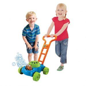 Childs Auto Bubble Lawn Mower Bubbles Machine