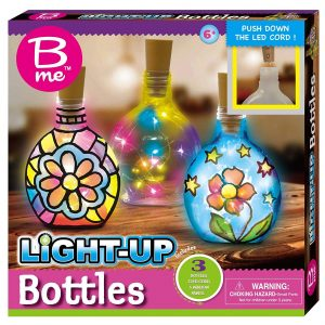 B Me Childrens Arts And Craft Light Up Set Bottles