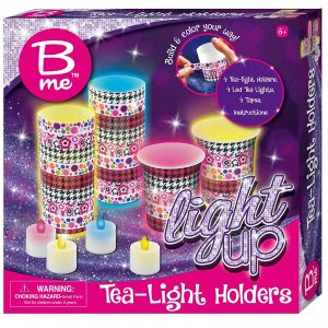 B Me Childrens Arts And Craft Light Up Set Tea Light Holders
