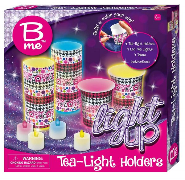B Me Childrens Arts And Craft Light Up Set Tea Light Holders