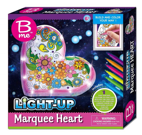 B Me Childrens Arts And Craft Light Up Set Marquee Heart