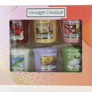 Set of 6 Yankee Candle Votive Sampler Gift Set Upto 15 Hours Burn Time