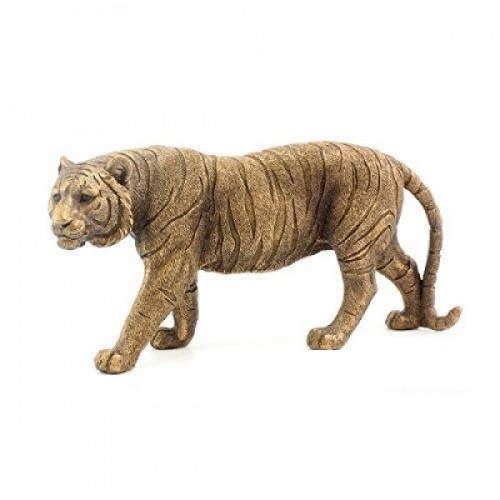 Collection Boxed Standing Tiger Bronze Art Jungle Plastic