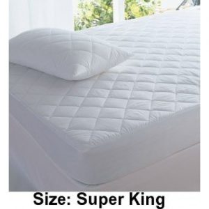 NIGHTZONE Polycotton Quilted Mattress Protector, Super King size