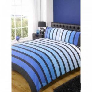 Double Duvet Sets SoHo Blue Stripe Bedding Set