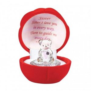 Gift Box For a Special Sister Glass Bear