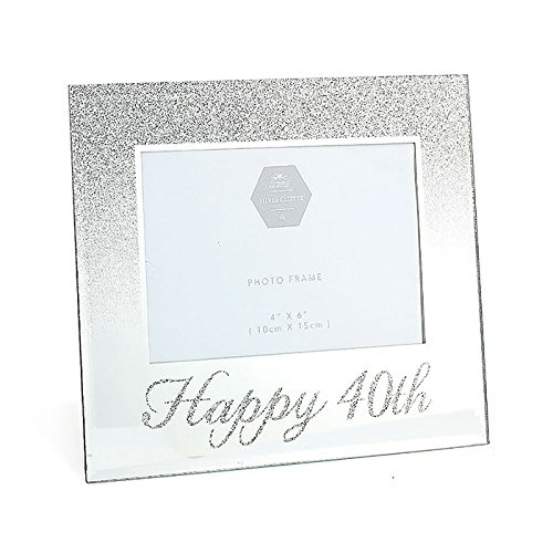 Birthday Gift Lesser and Pavey Mirror Happy 40th Frame Glass