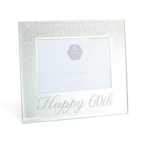 Birthday Gift Lesser and Pavey Mirror Happy 60th Frame Glass