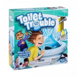 Hasbro Toilet Trouble Game Toilet Flush Water Spraying