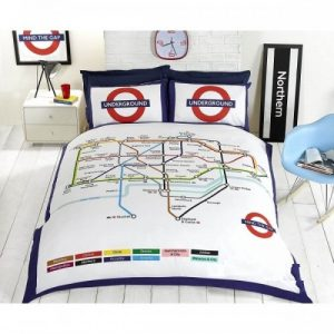 Double Duvet Sets Underground London Tube Bedding Set Double