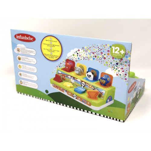 Kandy Toys Pop Up Animals In Open Touch Box - 12m+
