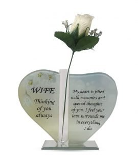 Heart Plaque Glass for Wife OS