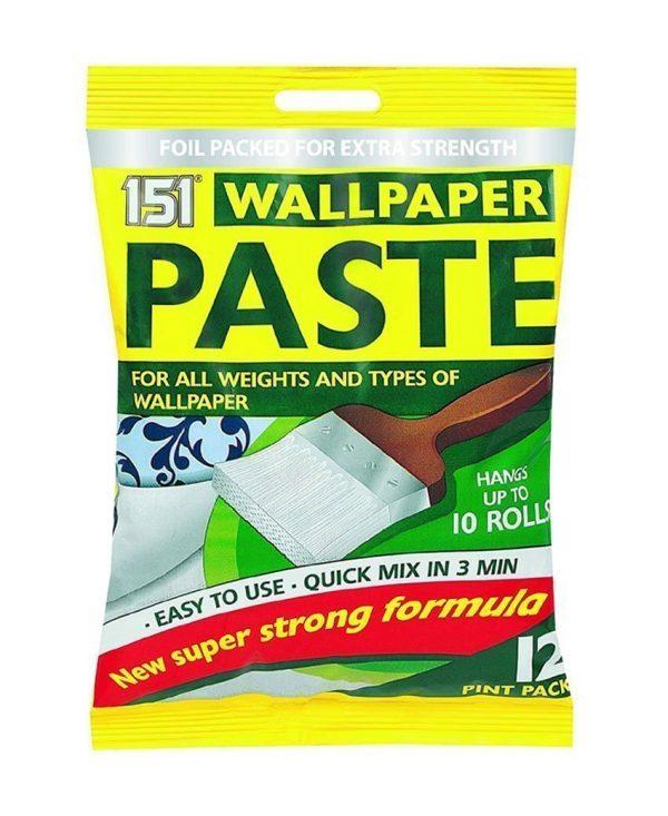 5 x Wallpaper Paste, 12 Pint Pack, New Super Strong Formula