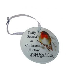 Christmas Tree Hanging Glass Memorial Ornament (Daughter).